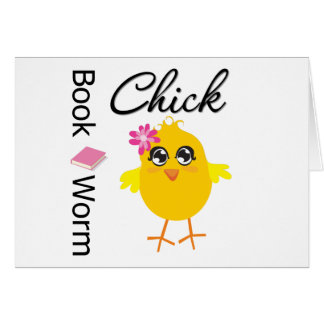 Book Worm Chick Card