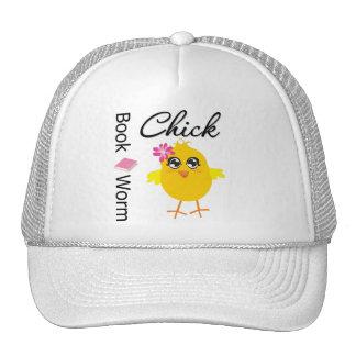 Book Worm Chick Trucker Hats