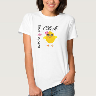 Book Worm Chick Tee Shirt