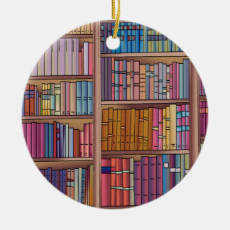 Book Worm Circle Ornament