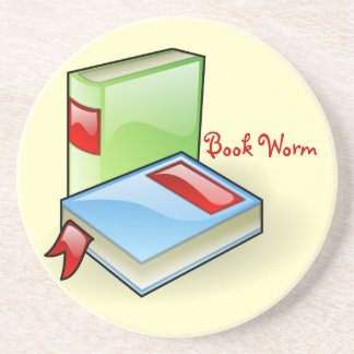 Book Worm Drink Coasters