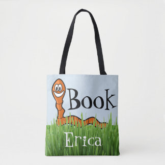 Book Worm Customise Library Tote Bag Cute