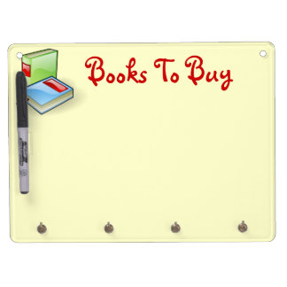Book Worm Dry Erase Board With Key Ring Holder