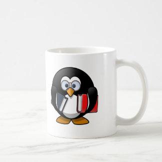Book Worm Penguin Mugs