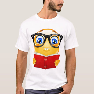 Book worm smiley T-Shirt