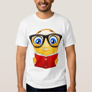 Book worm smiley tees