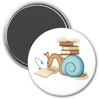 """""""Book Worm"""" Sneople Snail Magnet"""