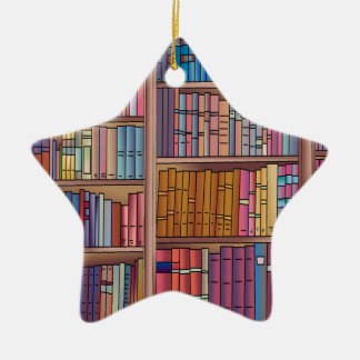Book Worm Star Christmas Ornament