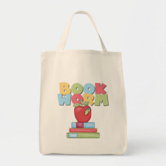 Book Worm Tshirts and Gifts Canvas Bags