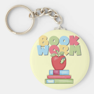 Book Worm Tshirts and Gifts Keychain