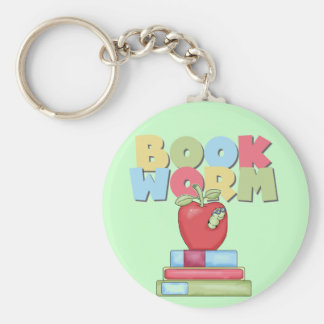 Book Worm Tshirts and Gifts Key Chains