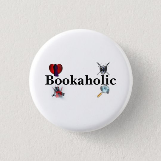 Bookaholic Button