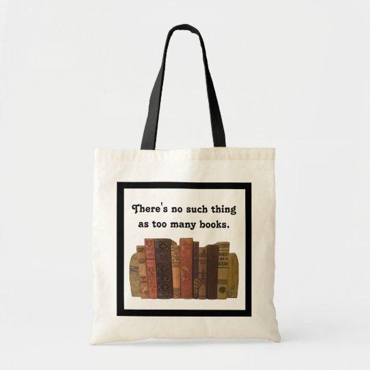 Bookaholic humour tote bag