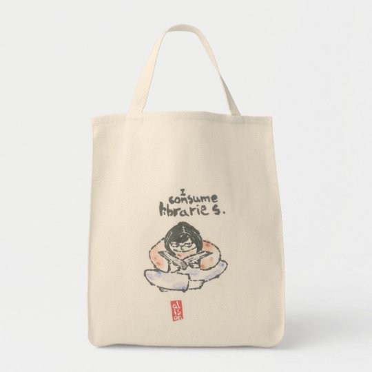 "Bookbag -- ""I consume libraries"""