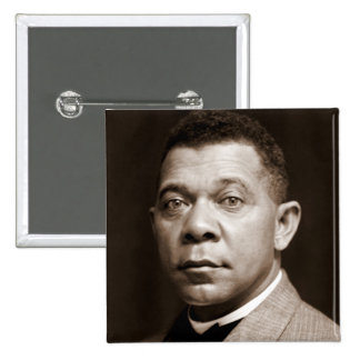 Booker T Washington, African American Civil Rights Pinback Button