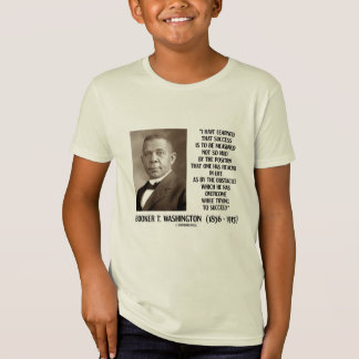 Booker T. Washington Obstacles Overcome Succeed T-Shirt