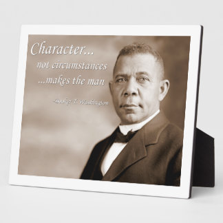 Booker T. Washington Photo Plaque