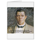 Booker T Washington & Success Quote Card