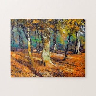 Booker Woods and light spills around the trees Jigsaw Puzzle