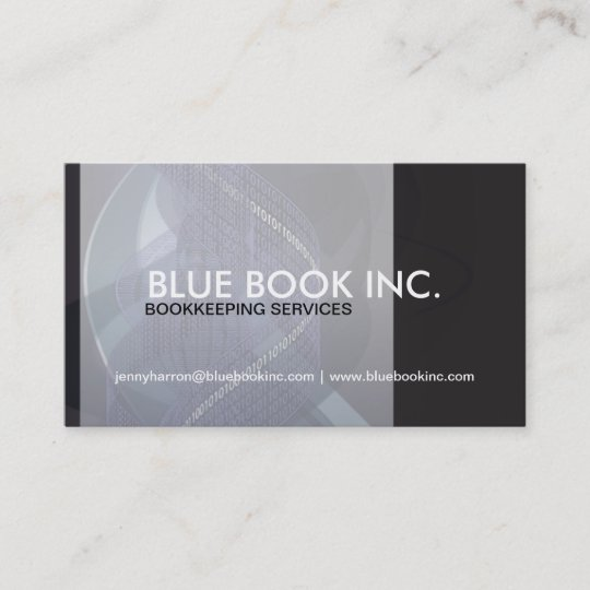 Bookkeeper and accountant business card zazzle bookkeeper and accountant business card reheart Images