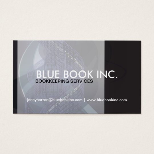 Bookkeeper and Accountant Business Card