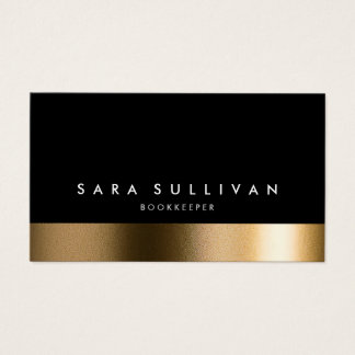 Bookkeeper Bold Black Gold Business Card