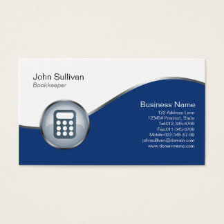Bookkeeper Business Card Calculator Icon