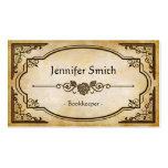 Bookkeeper - Elegant Vintage Antique Pack Of Standard Business Cards