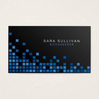 Bookkeeper Financial Services Abstract Blue Cubes Business Card