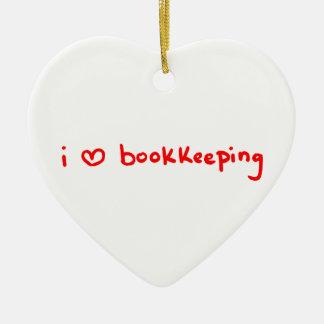 Bookkeeper Ornament - I Love Bookkeeping