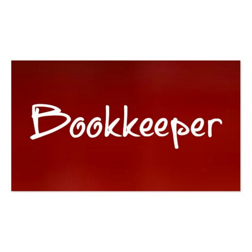 Create your own bookkeeper business cards bookkeeper red business card colourmoves