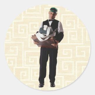 Bookkeeper Round Sticker