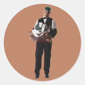 Bookkeeper Round Stickers