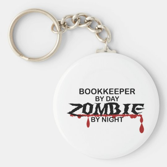 Bookkeeper Zombie Key Ring