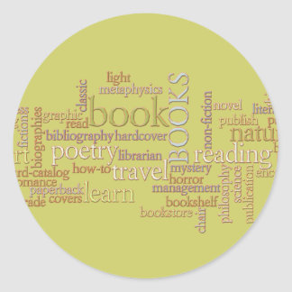 Booklovers Favorites Round Sticker