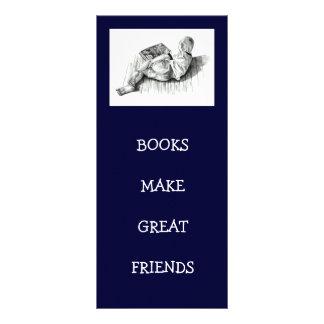 BOOKMARK: BOY READING: PENCIL ART CUSTOMISED RACK CARD