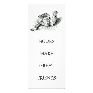 BOOKMARK: BOY READING: PENCIL ART RACK CARD DESIGN