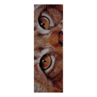 BOOKMARK - Cat Eyes Pack Of Skinny Business Cards