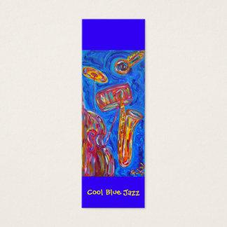 Bookmark - Cool Blue Jazz Mini Business Card