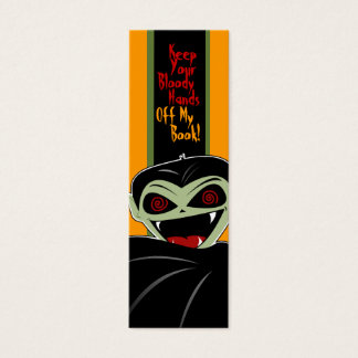 Bookmark Dracula Vampire Halloween Bloody Custom Mini Business Card