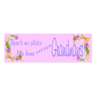 BOOKMARK FOR GRANDMOTHER GIFT BUSINESS CARD TEMPLATE