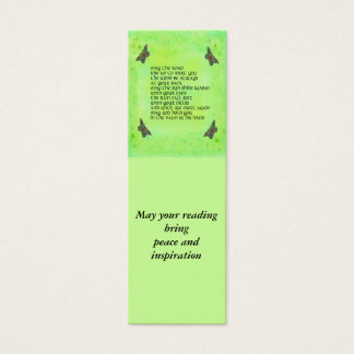 Bookmark for peace and inspiration mini business card