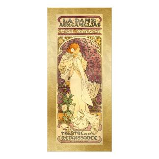 Bookmark Gift Card - La Dame aux Camé - Mucha Custom Rack Card