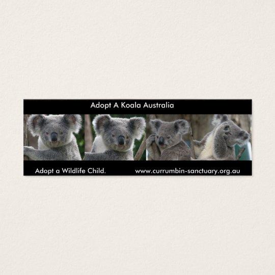 Bookmark Koalas Adopt a Wildlife Child Australia Mini