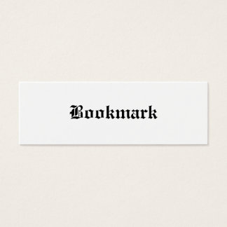 Bookmark... Mini Business Card