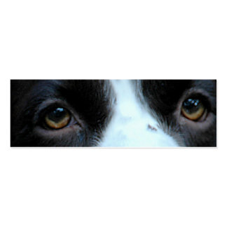 "Bookmark or Profile card ""The eyes know"" Pack Of Skinny Business Cards"
