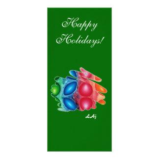 Bookmark Quadric Happy Holidays Rack Card