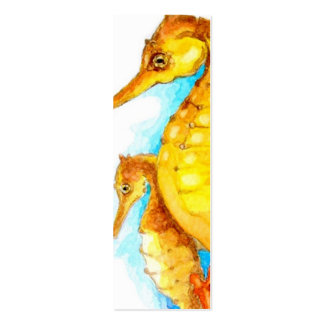 BOOKMARK - Seahorse Pack Of Skinny Business Cards