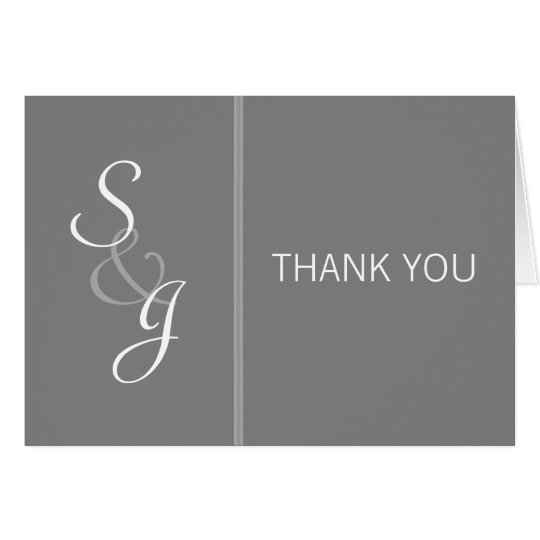 Bookmarked Thank You Note-grey Card