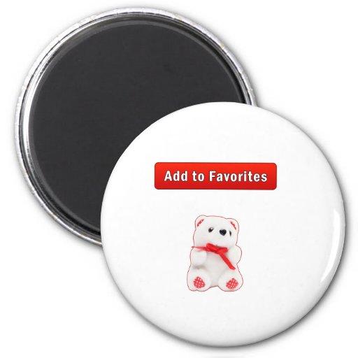 Bookmarks and favorites fridge magnets